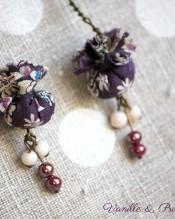 Boucles d'oreilles Liberty violet long 2