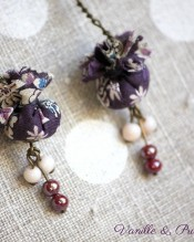 Boucles d'oreilles Liberty violet long 2